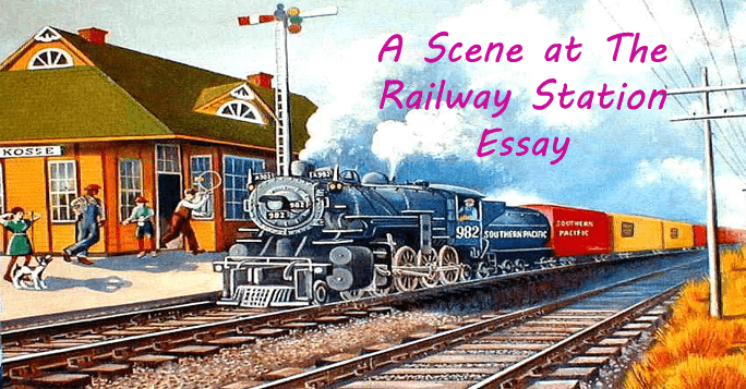 A Scene at The Railway Station