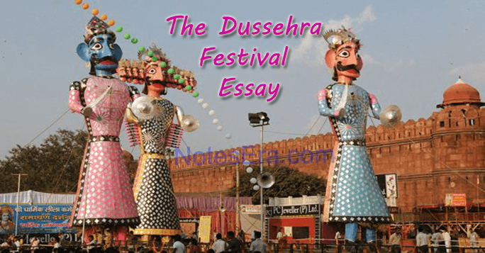 The Dussehra Festival Essay